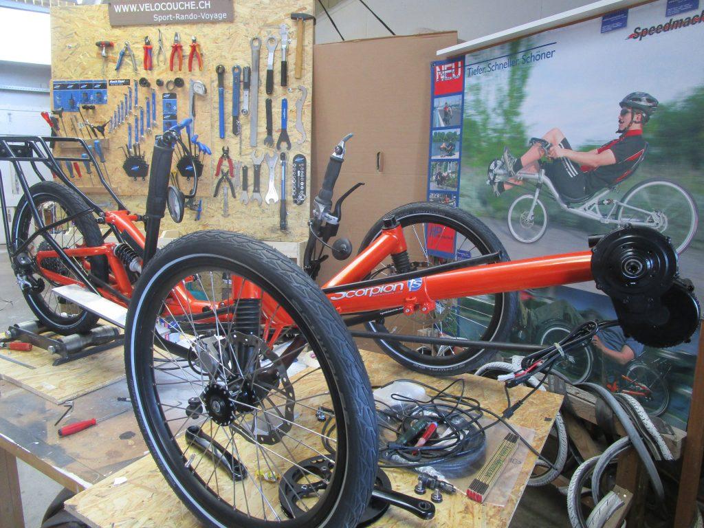 atelier réparation trike vélo couché