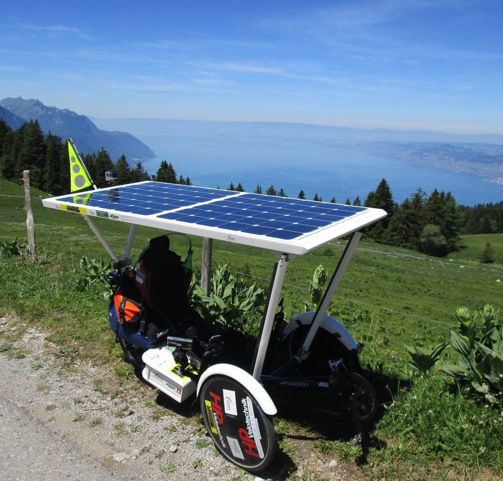 trike solaire vélo photovoltaique