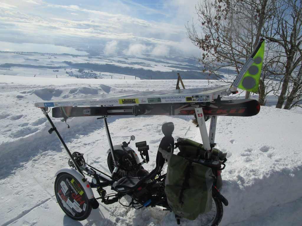 trike solaire porte ski velo photovoltaique